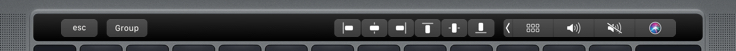 Aligning Touch Bar