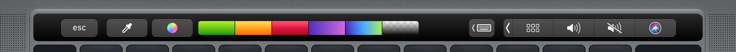 Color popover Touch Bar