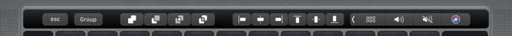 Boolean operations on the Touch Bar