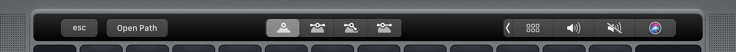 Vector editing on the Touch Bar